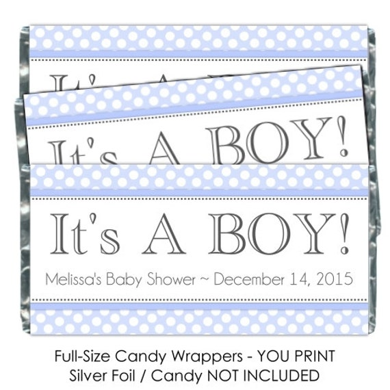 Printable candy wrappers baby shower candy wrappers for Candy bar wrappers template for baby shower printable free