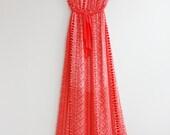 Clearance SALE Coral Chevron Maxi Dress Causal Maxi Dress Long Dress