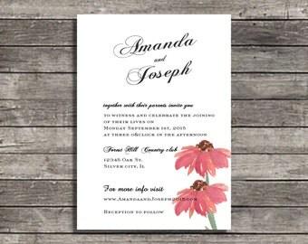 wedding invitations Love Bouquet wedding invite