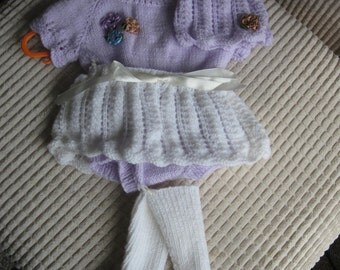 Baby leotard, skirt, hat and leg warmer bootees