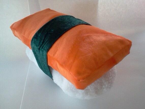 Sushi Plush Pillow Nigiri Sake With Nori Salmon On Rice