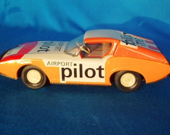 Vintage Toy tin model sport/airport car from 80's