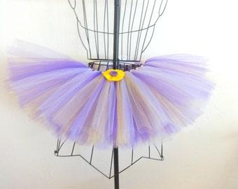 Toddler purple and yellow tutu, Toddler tutu skirt, Girls purple and yellow tutu, Girls tutu skirt, Size 3T tutu, Size 3 girls clothes,