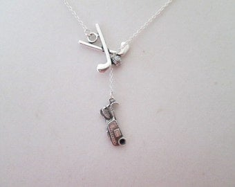 Golf Lover Lariat Necklace - Golf Jewelry
