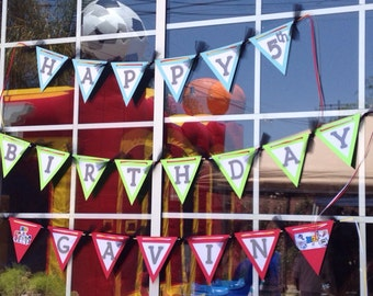 Teen Titans Go INSPIRED Birthday Banner