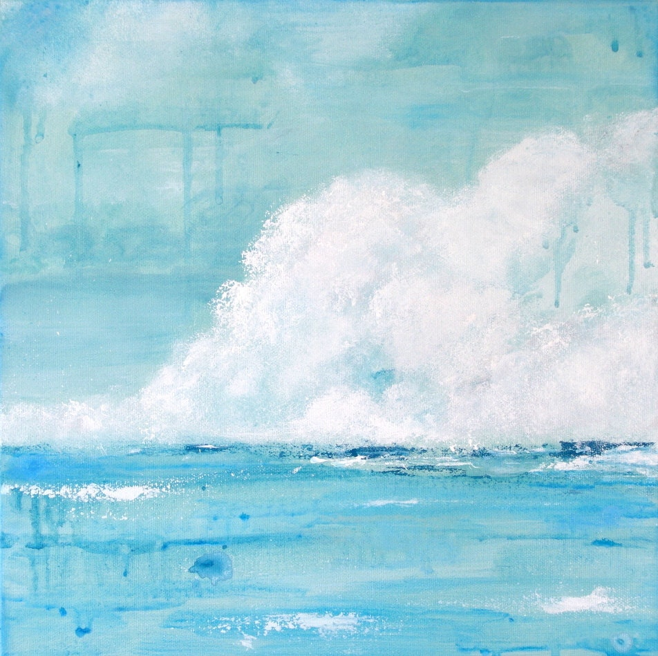 Abstract Ocean Painting Seascape Ocean Painting
