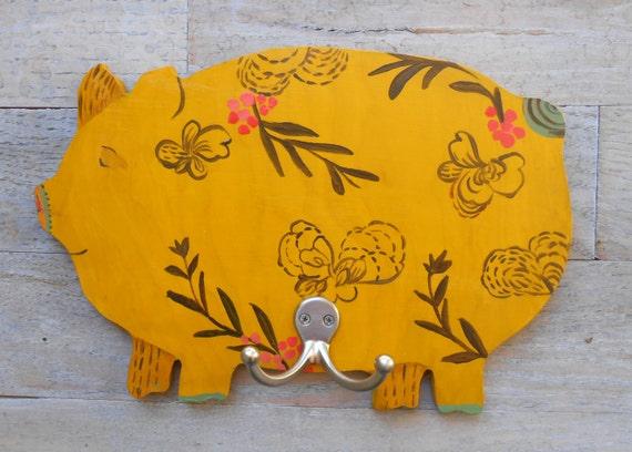 Provence Pig Wall Hook/Coat Rack