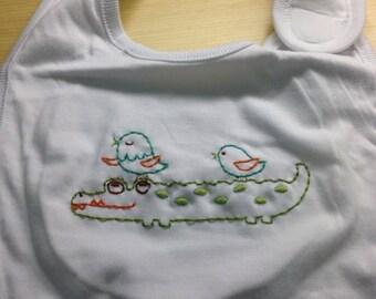 Alligator baby bib