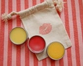 Valentine's Day Gift Pack - 3 All Natural Handcrafted Tins- Red Hot Lip Plumper