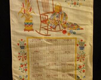 Cloth Calendar 1991 ~ FREE Domestic Shipping