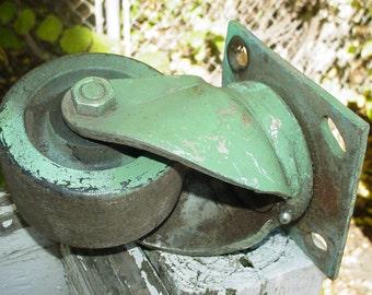 Industrial Large Vintage Swivel Caster ~ Vintage Industrial ~ Reclaimed Industrial Caster~Heavy Duty Swivel Caster