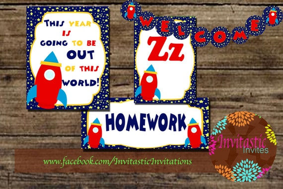 Classroom Decoration Ideas For Outer Space ~ Sale off rocket outer space bulletin board classroom