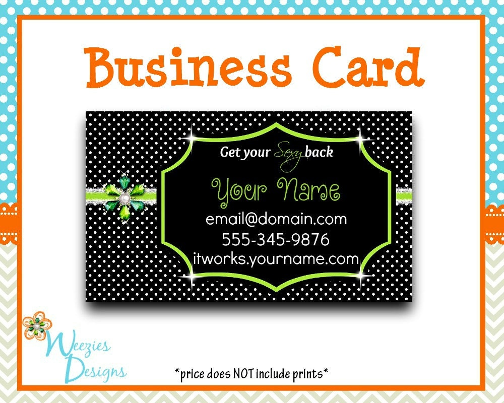 IT WORKS Business Card Direct Sales Marketing by