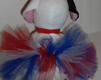 LAST ONE ~  XSmall Dog Tutu, Dog Costume, 4th of July Dog Tutu, Red, White, Blue