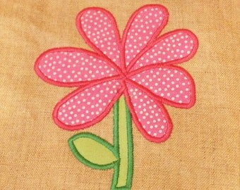 Whimsical Flower Applique Design For Clothing Or Home Decor In 3 Sizes Simple Modern