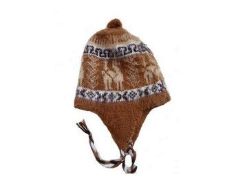 VINTAGE 90s angora peruvian wool KID earflat HAT