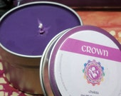 CROWN CHAKRA CANDLE - 7th Purple Crown Chakra - Open Your Spiritual Center and Connect to the Divine Universe & Your Soul or Higher Self