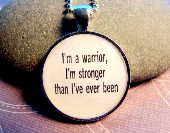 Demi Lovato Lyrical Quote I'm A Warrior I'm Stronger