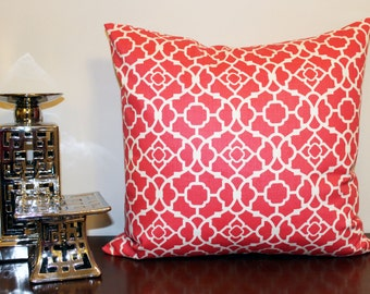 Sateen Blossom Pink and White  Pillow Cover, Waverly Lovely Lattice
