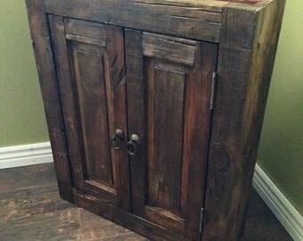Rustic Bathroom Cabinet - Handmade reclaimed furniture (17514)