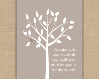 Mother's Day Gift PRINTABLE. Mother Quote. Takes the Place of Others. Gift for Mom. 8x10 Jpeg DIGITAL file.