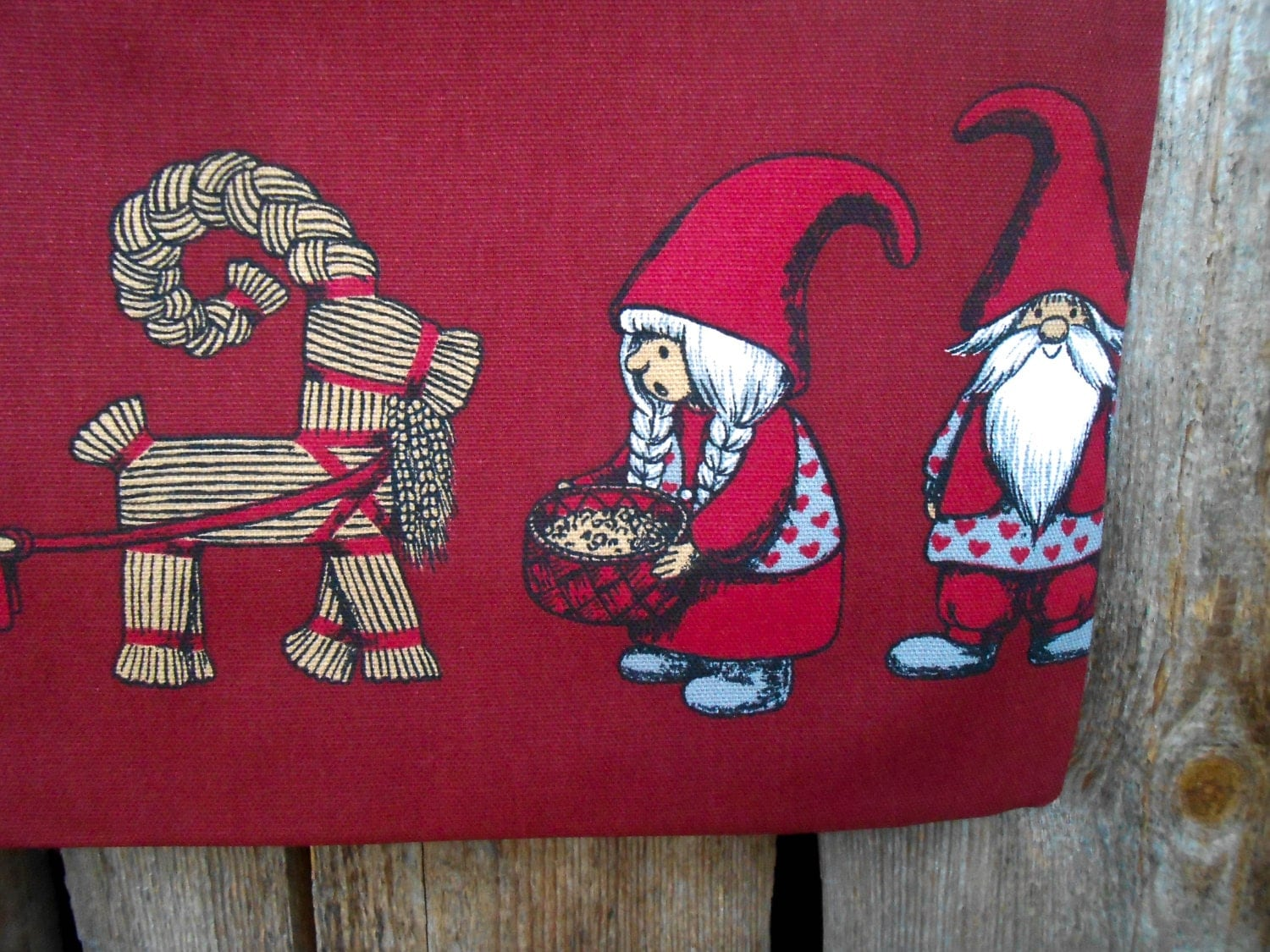 Santa Sack Scandinavian Christmas Gift Bag by ViViCreative ...