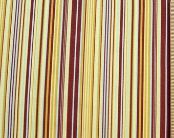 Joel Dewberry fabric Narrow Stripe brown yellow fabric Chestnut Hill JD14 Eggplant 100% Cotton FreeSpirit Sewing Quilting fabric by the yard