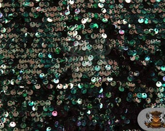 """Sequin Micro Dye Paillete AQUA Fabric / 54"""" Wide / Sold by the yard"""