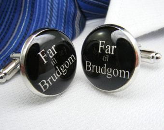 Far til Brudgom - Manchetknapper - Father of the Groom - Danish Modern - Denmark Cufflinks - Danmark Wedding - Danmark Gift - Denmark Father