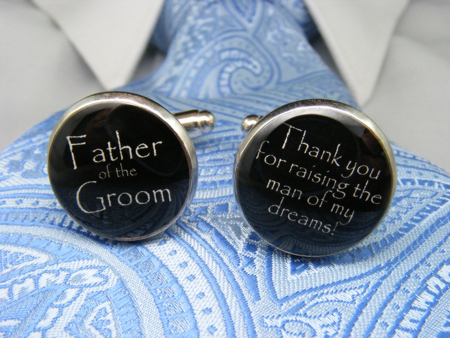 Grooms Gifts Ideas From Bride: Father Of The Groom Cufflinks Gift From The Bride Father