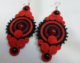 Metaphor - big soutache earrings