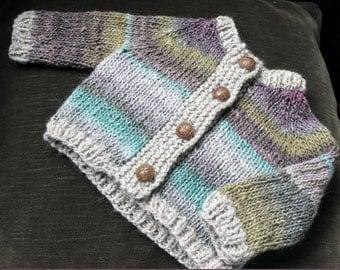 hand knit child cardigan