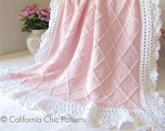 Knitting PATTERN 63 - Paris - Knit Baby Blanket PATTERN 63 - Instant Download PDF Pattern
