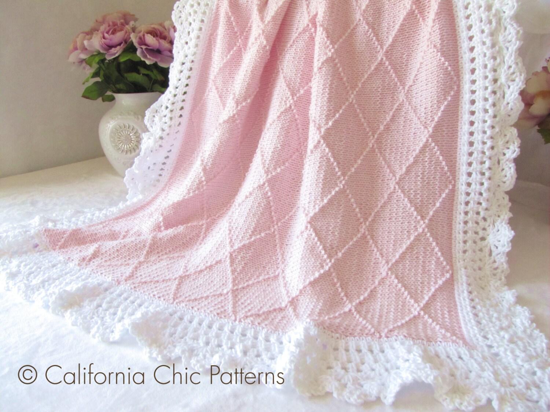 Paris Knit Baby Blanket