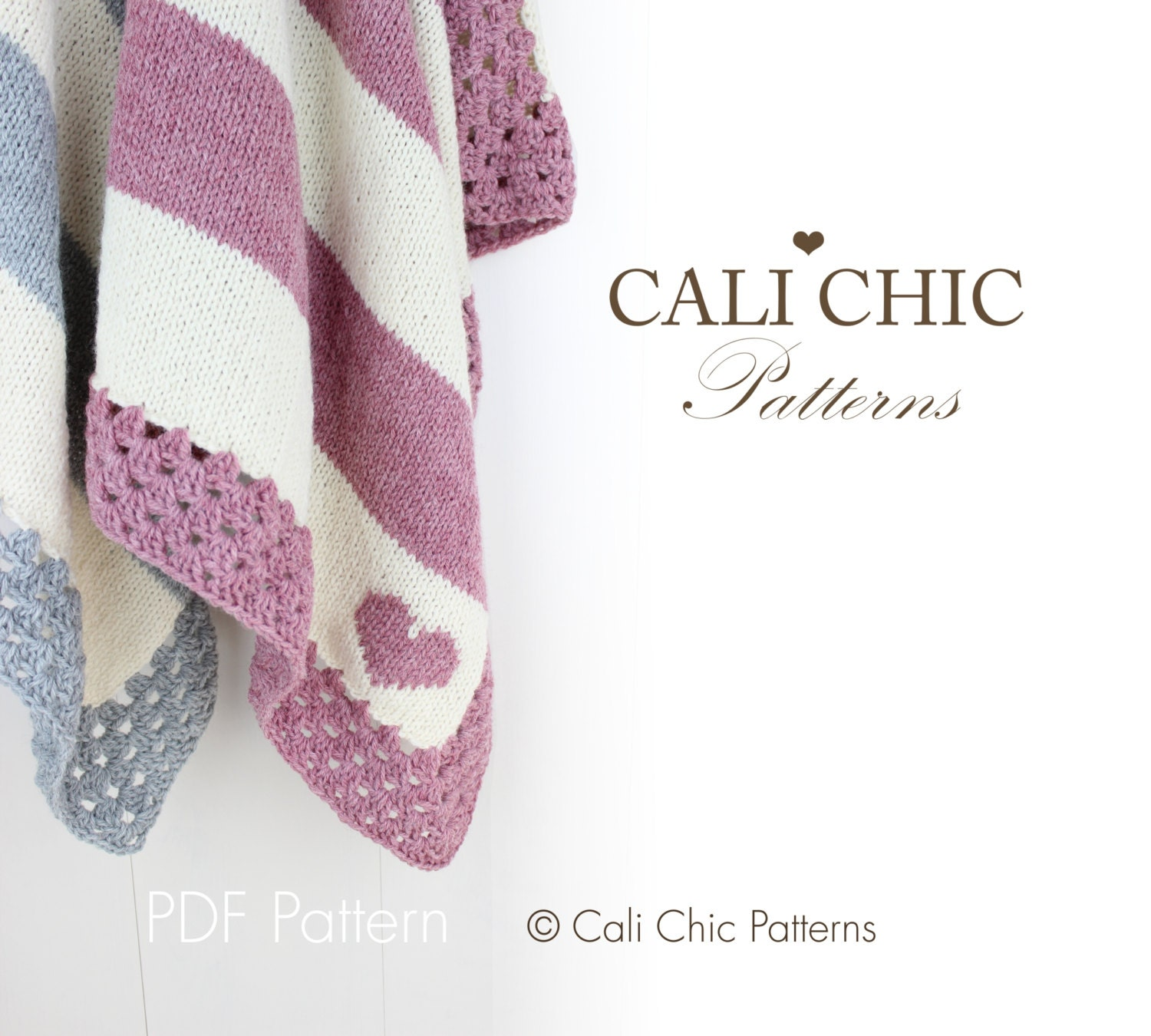 Children s Blanket Pattern Knitting : Baby Blanket PATTERN 27 Cali Kids Knit Blanket PATTERN 27