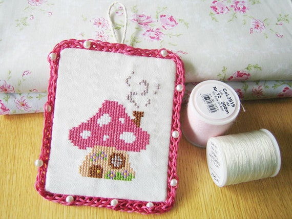 Mushroom house cross stitch pattern PDF DIY instant download