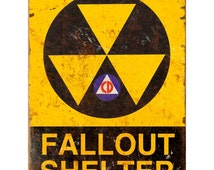 Fallout Shelter Civil Defense Wall Decal #50314