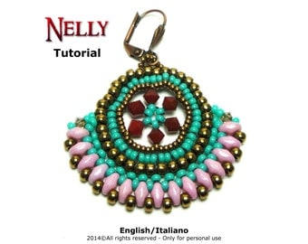 Tutorial Nelly Earrings - beading pattern