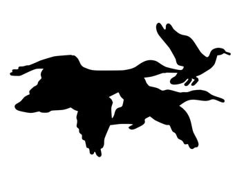 Flying Geese Decal , Geese Hunter Sticker , Geese Silhouette Stickers