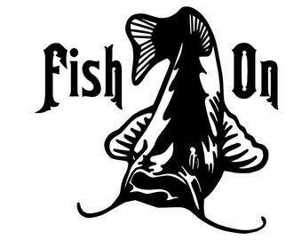 Catfish Fishing Decal Fish On Sticker Outdoorsman