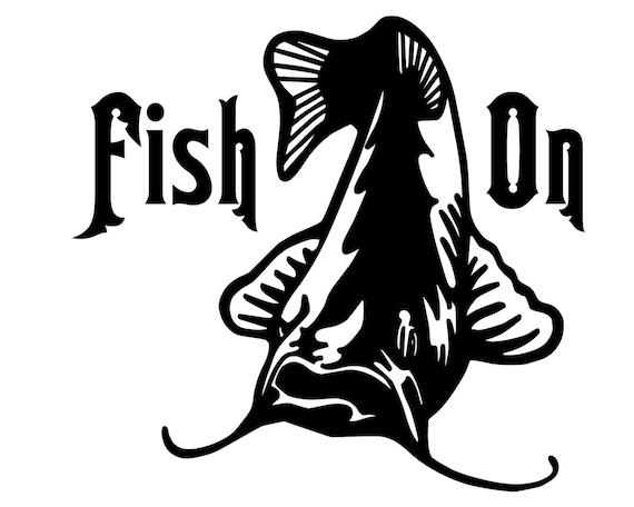 Catfish Fishing Decal Fish On Sticker Outdoorsman Catfish