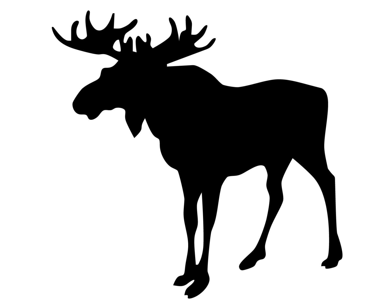 Moose Head Silhouette Pattern