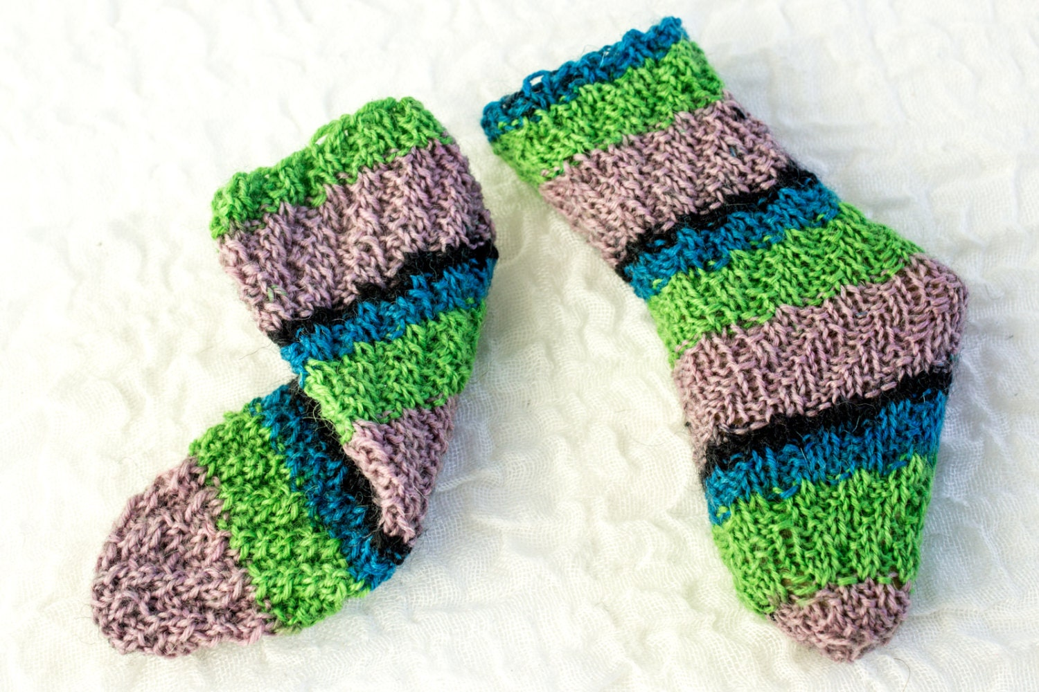 KNITTING PATTERN Baby Socks Tube Socks Knitted Magic Spiral