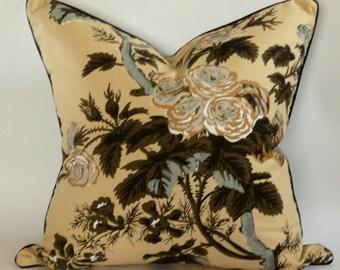 Schumacher Pyne Hollyhock Pillow Cover