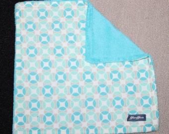 Mini Minky Blanket-Turquoise Tile