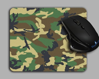 Camouflage Mouse Pad, Woodland Camo pattern mousepad  MP-093
