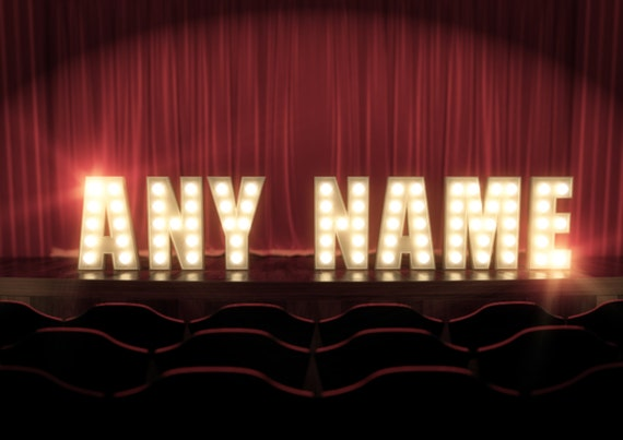 Name In Lights Wall Decor : Any Name in Stage Lights Broadway West End by LockhartandJones