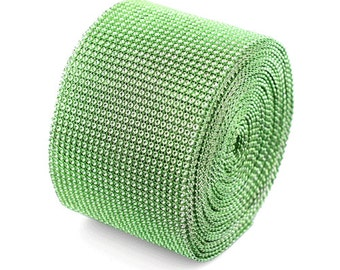 "Green Diamond Mesh Ribbon - 4.5"" x 30 Feet"