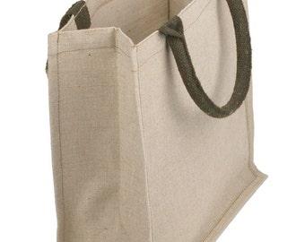 "Juco - Jute & Cotton Blend Tote Bag - 12"" x 12"" x 7.75"""