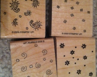 Fresh Fillers, set of 4 stamps. Stampin Up